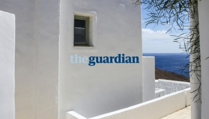 Pylaia Boutique Hotel & Spa featured in Guardian's Dodecanese guide as the place to stay at Astypalea